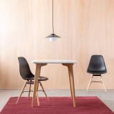 Quadratischer Esstisch aus MDF und Eichenholz (80x80 cm) Lagom, Miniaturansicht 2