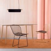Esszimmerstuhl aus Stahl Amber Edition Black, Miniaturansicht 2