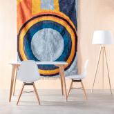 Esszimmerstuhl aus Polypropylen und Holz Belli, Miniaturansicht 2