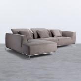 Chaise Longue Links 4-Sitzer Sofa Nobuck Rochi , Miniaturansicht 4