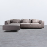 Chaise Longue Links 4-Sitzer Sofa Nobuck Rochi , Miniaturansicht 3
