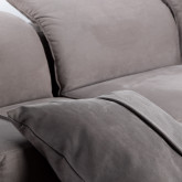 Chaise Longue Links 4-Sitzer Sofa Nobuck Rochi , Miniaturansicht 5