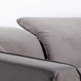 Chaise Longue Links 4-Sitzer Sofa Nobuck Rochi , Miniaturansicht 6