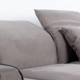 Chaise Longue Links 4-Sitzer Sofa Nobuck Rochi , Miniaturansicht 7