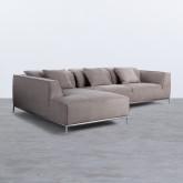 Chaise Longue Links 4-Sitzer Sofa Nobuck Rochi , Miniaturansicht 1