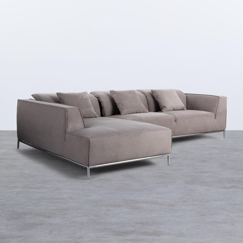 Chaise Longue Links 4-Sitzer Sofa Nobuck Rochi , Galeriebild 1