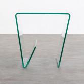 Quadratischer Beistelltisch mit Zeitschriftenständer aus Glas (50x50 cm) Vidre Line, Miniaturansicht 3