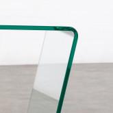 Quadratischer Beistelltisch mit Zeitschriftenständer aus Glas (50x50 cm) Vidre Line, Miniaturansicht 5