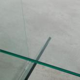 Quadratischer Beistelltisch mit Zeitschriftenständer aus Glas (50x50 cm) Vidre Line, Miniaturansicht 6