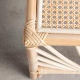 Quadratischer Beistelltisch aus Naturrattan (40x40 cm) Klaipe, Miniaturansicht 6