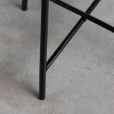 Runder Beistelltisch aus synthetischem Rattan und Glas (45x45 cm) Balar, Miniaturansicht 6