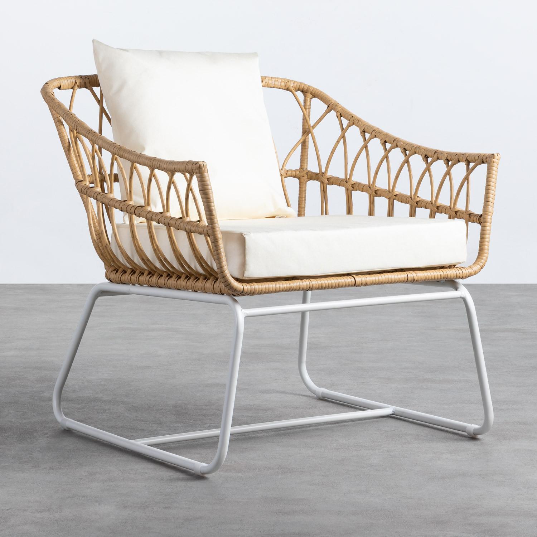 Sessel mit Armlehnen aus synthetischem Rattan Noli, Galeriebild 1