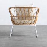 Sessel mit Armlehnen aus synthetischem Rattan Noli, Miniaturansicht 4