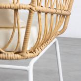 Sessel mit Armlehnen aus synthetischem Rattan Noli, Miniaturansicht 5