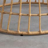 Runder Couchtisch aus synthetischem Rattan (Ø76 cm) Noli, Miniaturansicht 6