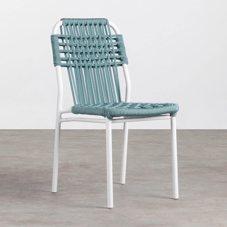 Outdoor Stuhl aus Aluminium und Textil Alorn, Galeriebild 1