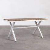 Outdoor Tisch Rechteckig aus Holz und Stahl (160x80 cm) Ship, Miniaturansicht 1