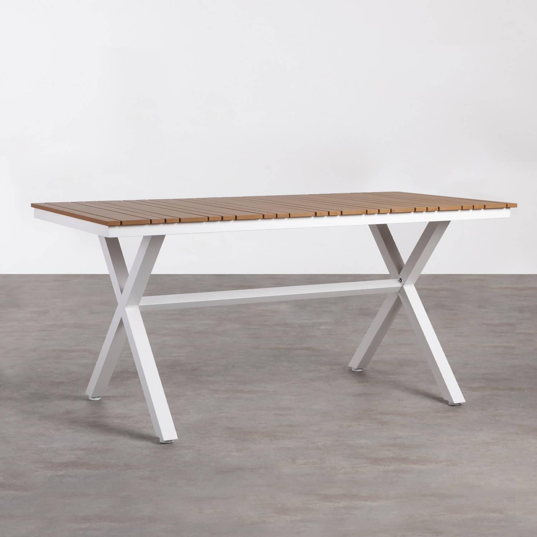 Outdoor Tisch Rechteckig aus Holz und Stahl (160x80 cm) Ship, Galeriebild 1