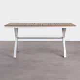 Outdoor Tisch Rechteckig aus Holz und Stahl (160x80 cm) Ship, Miniaturansicht 3