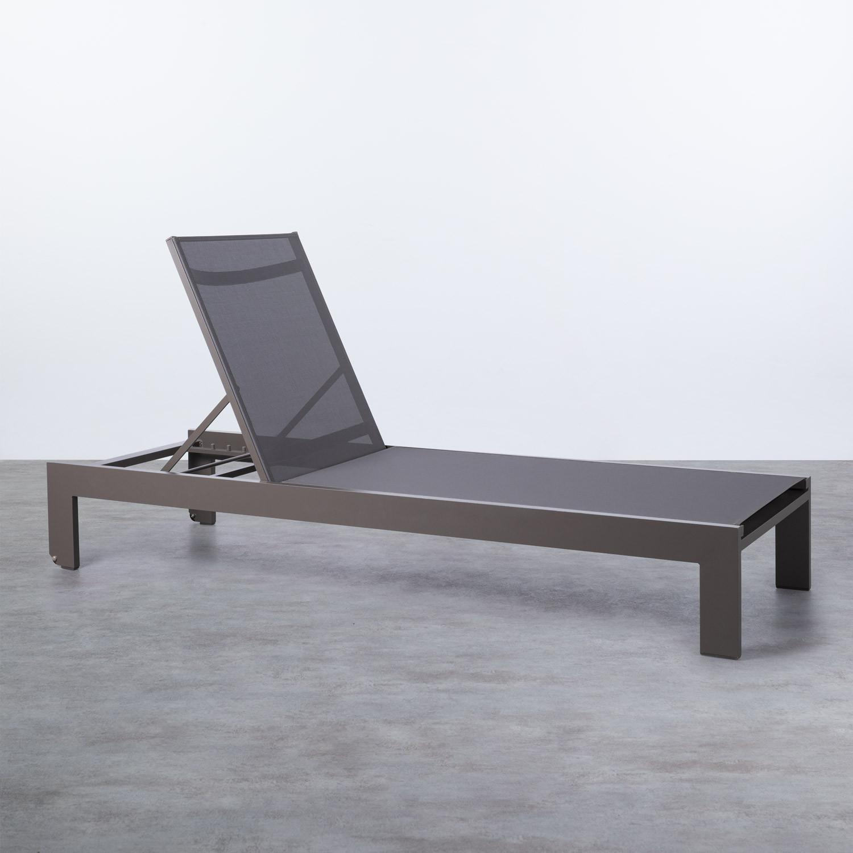 Verstellbare Liege aus Aluminium und Stoff Kreta, Galeriebild 1
