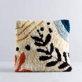 Quadratisches Baumwollkissen (50x50 cm) Fle, Miniaturansicht 1