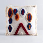 Quadratisches Kissen aus Baumwolle (50x50 cm) Fares, Miniaturansicht 1