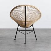 Outdoor Stuhl aus Polyethylen und Stahl Copacabana Twist, Miniaturansicht 4
