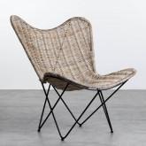 Sessel aus Natur-Rattan Timot, Miniaturansicht 1