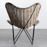 Sessel aus Natur-Rattan Timot, Miniaturansicht 4