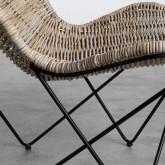 Sessel aus Natur-Rattan Timot, Miniaturansicht 8