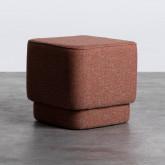Quadratischer Pouff aus Stoff Escua, Miniaturansicht 1