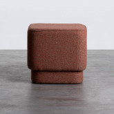 Quadratischer Pouff aus Stoff Escua, Miniaturansicht 3