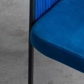 Esszimmerstuhl aus Samt und Seil Kila, Miniaturansicht 5