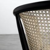 Esszimmerstuhl aus Holz und Natur-Rattan Fablem, Miniaturansicht 7