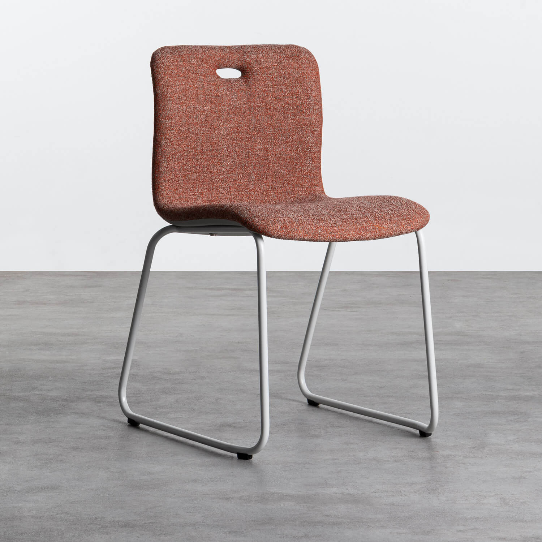 Esszimmerstuhl aus Textil und Metall Jandel, Galeriebild 1