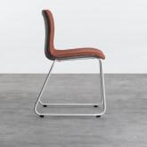 Esszimmerstuhl aus Textil und Metall Jandel, Miniaturansicht 2