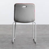 Esszimmerstuhl aus Textil und Metall Jandel, Miniaturansicht 3