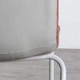 Esszimmerstuhl aus Textil und Metall Jandel, Miniaturansicht 4