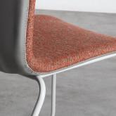 Esszimmerstuhl aus Textil und Metall Jandel, Miniaturansicht 6