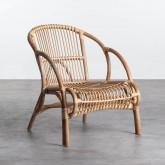 Sessel mit Armlehnen aus natürlichem Rattan Andola, Miniaturansicht 1