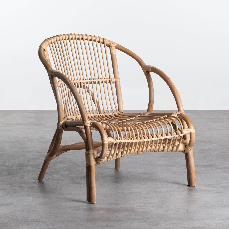 Sessel mit Armlehnen aus natürlichem Rattan Andola, Galeriebild 1
