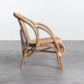 Sessel mit Armlehnen aus natürlichem Rattan Andola, Miniaturansicht 3