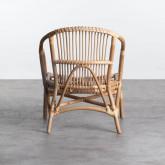 Sessel mit Armlehnen aus natürlichem Rattan Andola, Miniaturansicht 4