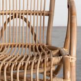 Sessel mit Armlehnen aus natürlichem Rattan Andola, Miniaturansicht 5