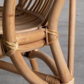 Sessel mit Armlehnen aus natürlichem Rattan Andola, Miniaturansicht 6