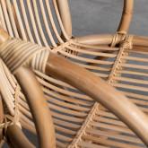 Sessel mit Armlehnen aus natürlichem Rattan Andola, Miniaturansicht 7