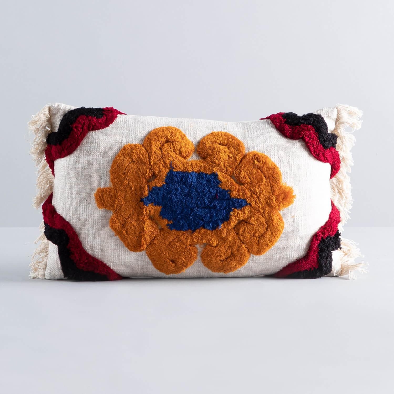 Rechteckiges Kissen aus Baumwolle (15x50 cm) Hau, Galeriebild 1