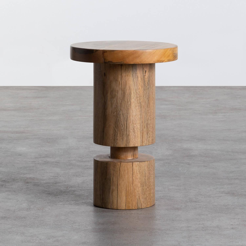 Niedriger Hocker aus Holz Blaki (46 cm), Galeriebild 1