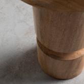 Niedriger Hocker aus Holz Blaki (46 cm), Miniaturansicht 3
