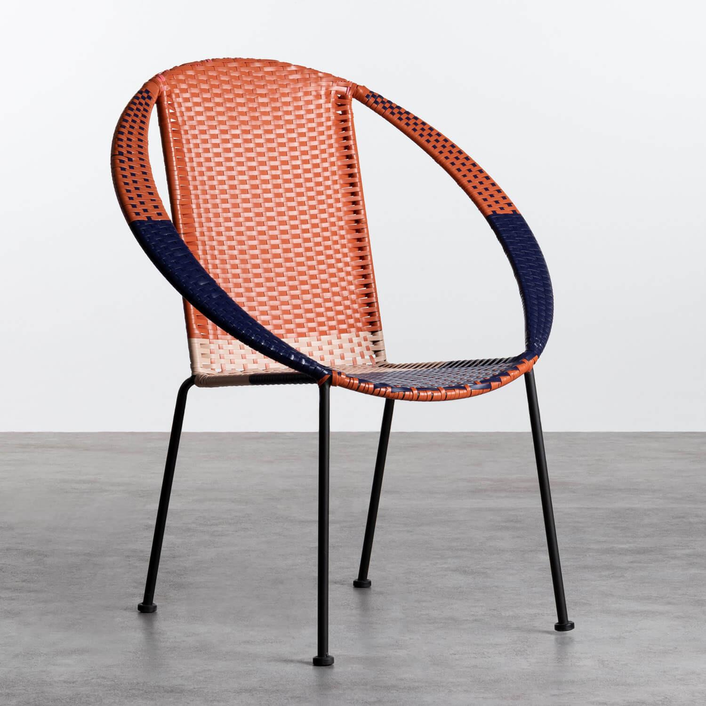 Outdoor Stuhl aus Rattan und Stahl Orag, Galeriebild 1